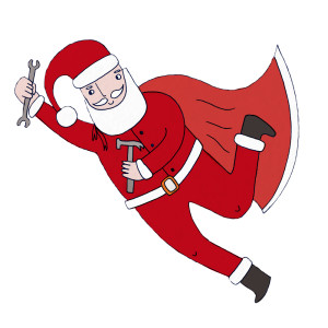 A MyBuilder Santa, yesterday.