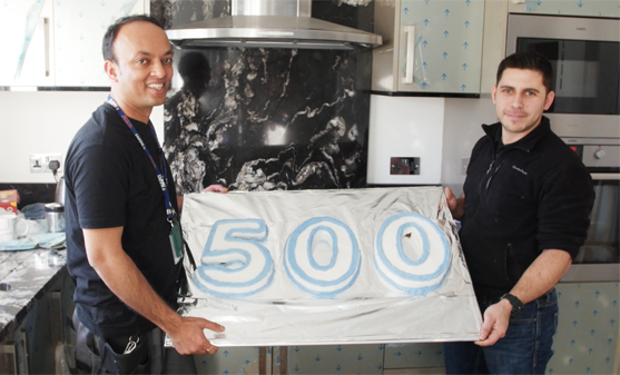 Vin Patel, the first tradesman to achieve 500 positive reviews on MyBuilder