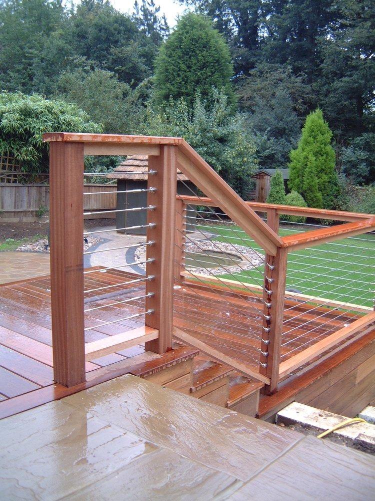 Transforming your garden for Decking at end of garden