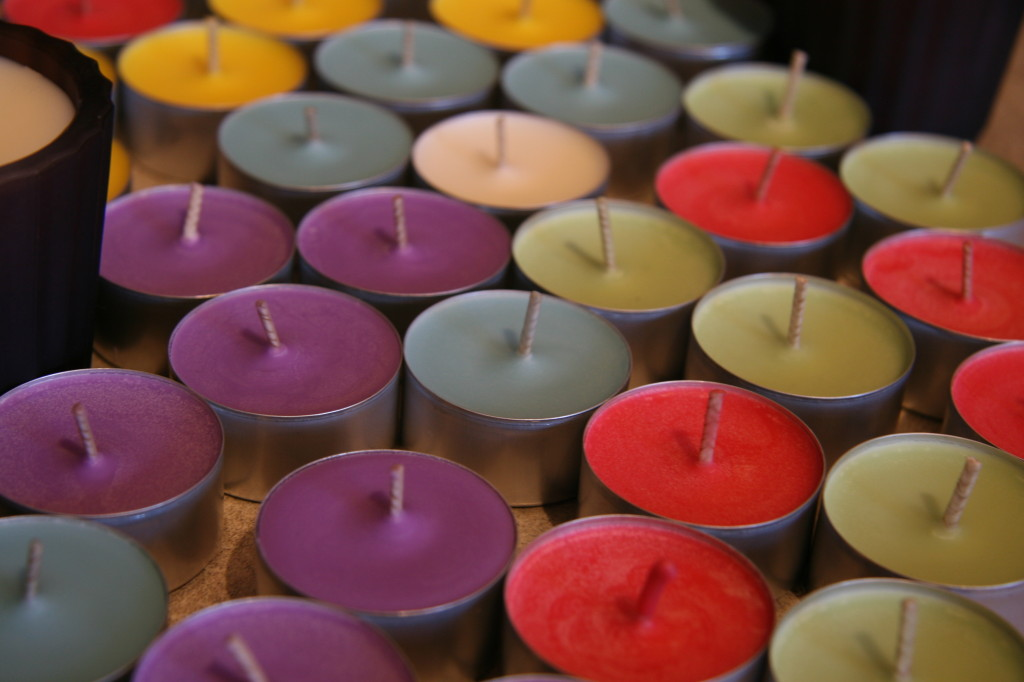 Candles can be used as tealights