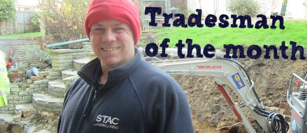 Stephen on-site at another extension job.