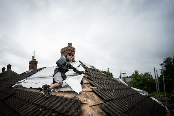 Roofs take a battering in bad weather